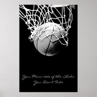 Affiche de motivation de basket-ball de citation