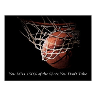 Affiche de motivation de basket-ball de citation posters