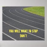 Affiche de motivation de sports ! Perfectionnez