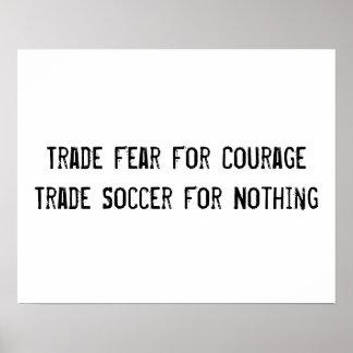 Affiche de motivation du football