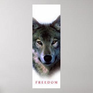 Affiche de motivation unique de porte de loup de