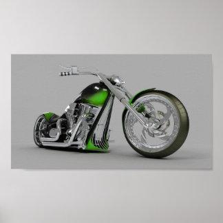 Affiche de motocyclette d'imaginaire mini