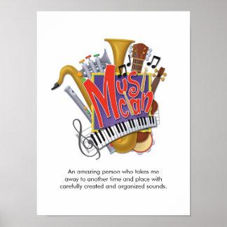 """Affiche de """"musicien"""""""