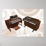 Affiche de musique : Claviers vintages : modèle 3D
