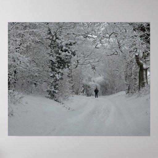 Affiche de neige d'hiver