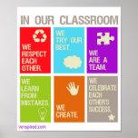 Affiche de normes de salle de classe