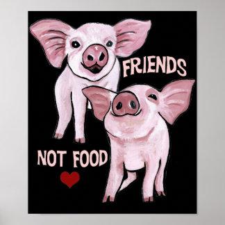Affiche de nourriture d'amis PAS Poster