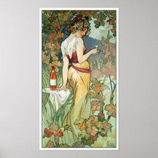 Affiche de Nouveau d'art de Mucha : Cognac Posters