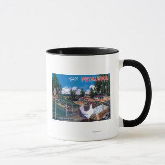 Affiche de panier des oeufs du monde mug