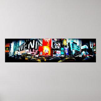 Affiche de panorama de Times Square Poster