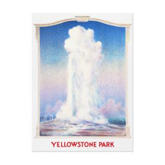 Affiche de parc de Yellowstone Toile