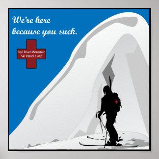affiche de patrouille de ski