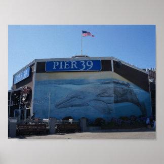 Affiche de peinture murale de baleine du pilier 39 poster