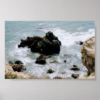 Affiche de plage de littoral de la Californie de p