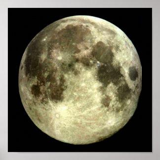 Affiche de pleine lune