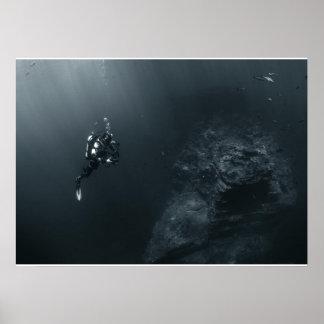 Affiche de plongeur de photographe