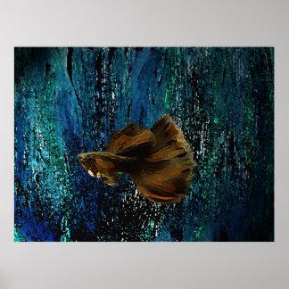 Affiche de poissons de Brown pour la décoration in