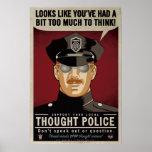 Affiche de police de pensée