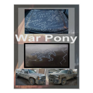 Affiche de poney de guerre petite poster