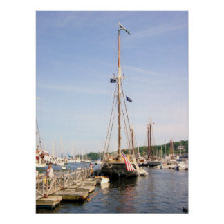 Affiche de port de Camden Maine