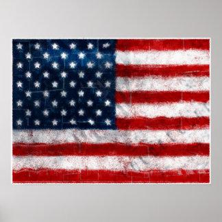 Affiche de portrait de drapeau américain posters