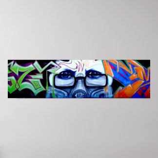 Affiche de portrait de graffiti posters