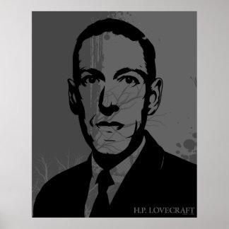 Affiche de portrait de HP Lovecraft Posters