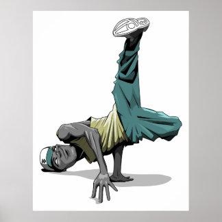 affiche de pose de danse de coupure