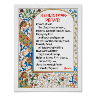 Affiche de prière de Noël (Donald Trump) Poster