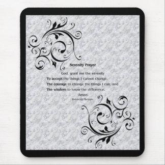 Affiche de prière de sérénité tapis de souris
