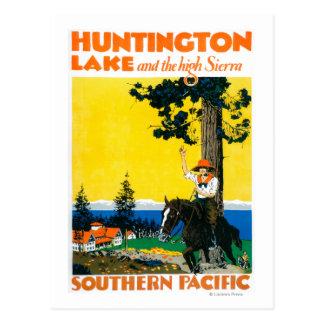 Affiche de Promotinal de lac huntington Carte Postale