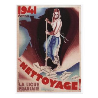 Affiche de propagande de Nettoyage Carte Postale