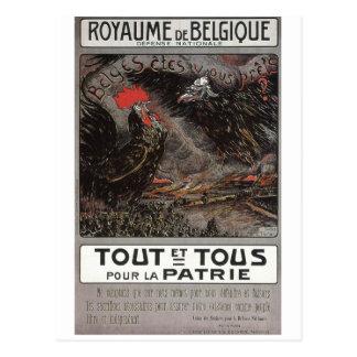Affiche de propagande de Royaume Belgique Carte Postale