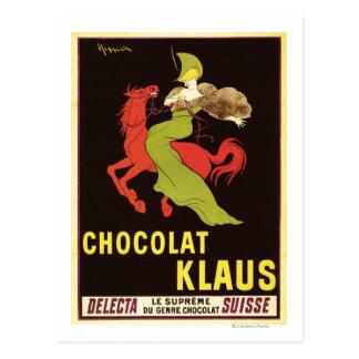 Affiche de publicité de Chocolat Klaus Carte Postale