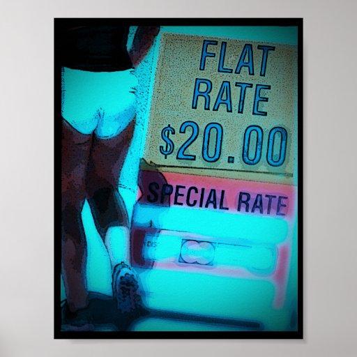 AFFICHE de Rate~ de ~Flat