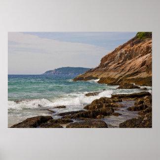 Affiche de rivage d'Acadia