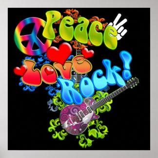 Affiche de roche d'amour de paix