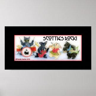 Affiche de roche de Scotties Poster