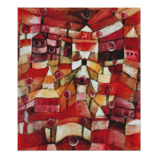 Affiche de roseraie de Paul Klee