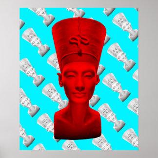 Affiche de rouge de Nefertiti Poster