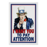 Affiche de salle de classe : Je veux que vous