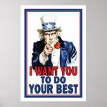 Affiche de salle de classe : Je veux que vous FASS