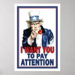 Affiche de salle de classe : Je veux que vous PRÊT