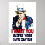 Affiche de salle de classe : Je vous veux - la PER