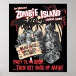 Affiche de salon de cocktail d'île de zombi