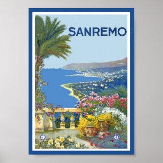 Affiche de San Remo Italie