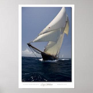 Affiche de schooner d'arc de Mariette