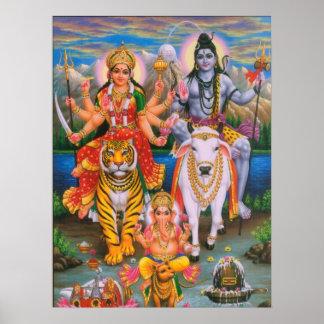 Affiche de Shiva Parvati Ganesha Posters