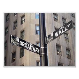 Affiche de signe de Broadway