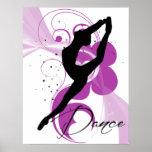 Affiche de silhouette de danseur